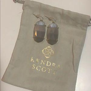 Grey stone with gold Kendra Scott earrings!